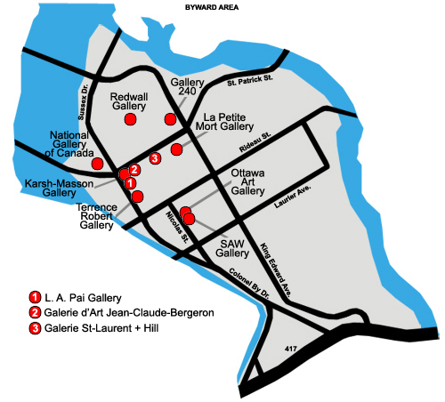 Byward galleries map